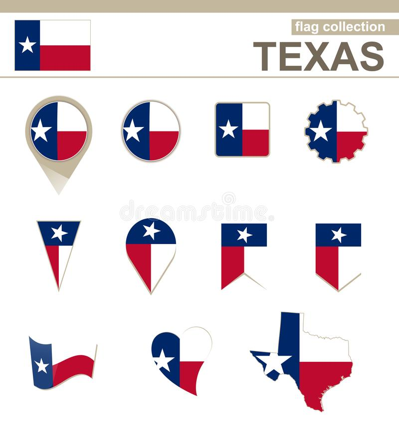 Texas Flag Collection stock illustratie