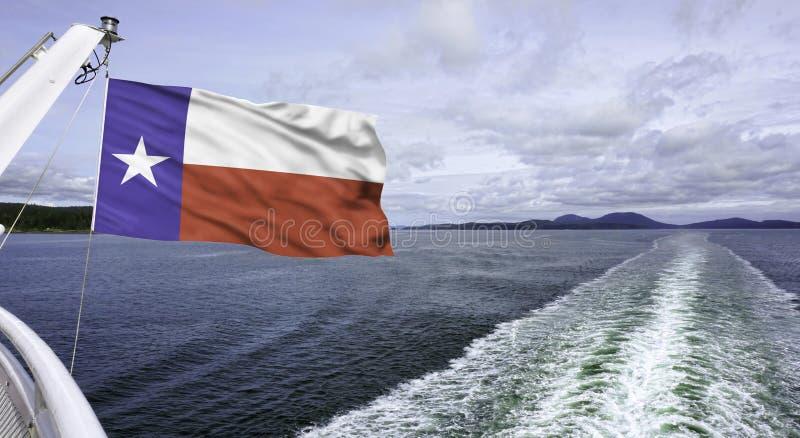 Texas Flag Flying arkivbild