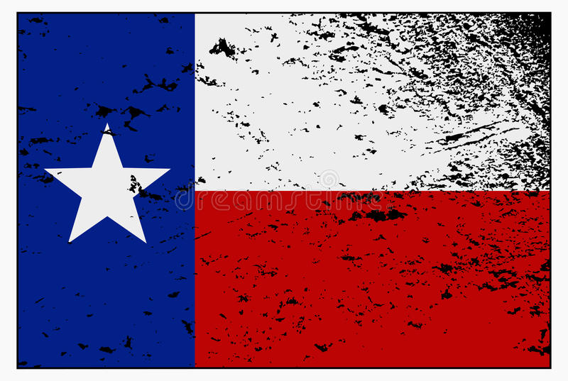 Texas Flag Grunged stock illustratie