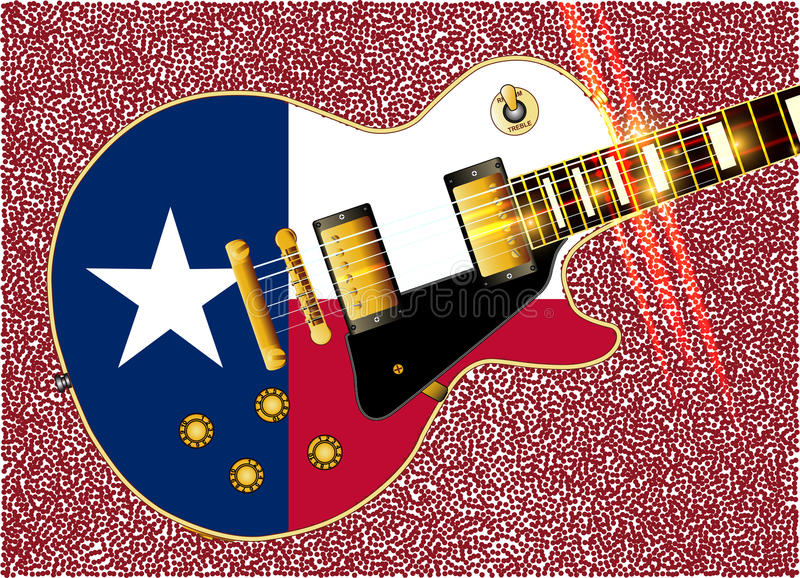 Texas Flag Guitar Guitar stock illustratie