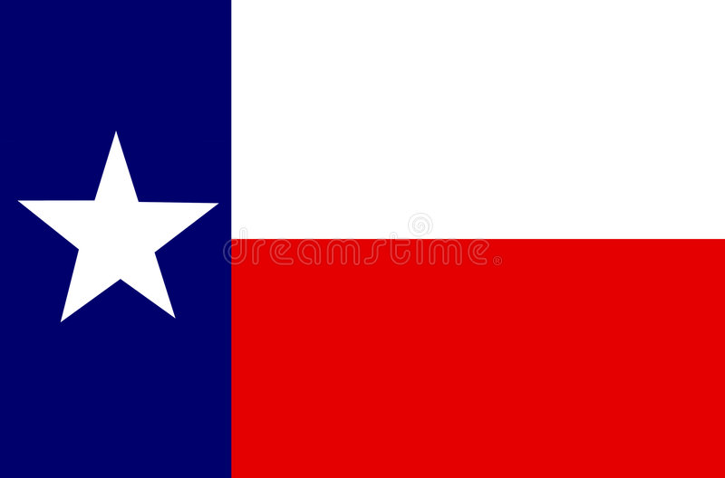Texas Flag - The Lone Star State. Flag of The State of Texas vector illustration