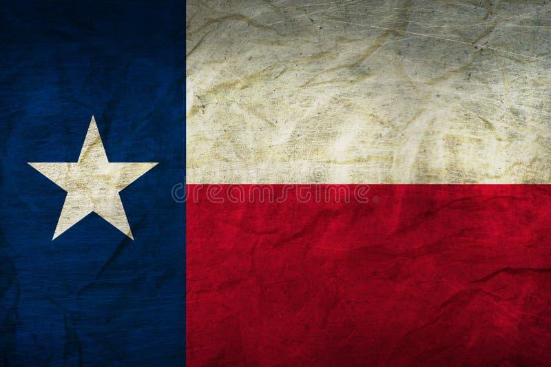 Texas Flag op papier royalty-vrije illustratie