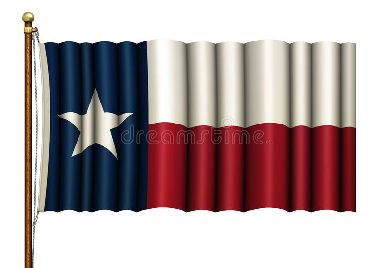 Texas Flag op Pool - 3D Illustratie vector illustratie