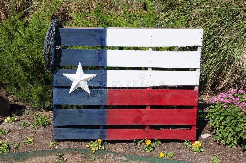Texas Flag Painted On een Houten Pallet stock foto