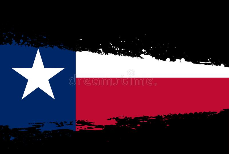 Texas Flag Splash vector illustratie