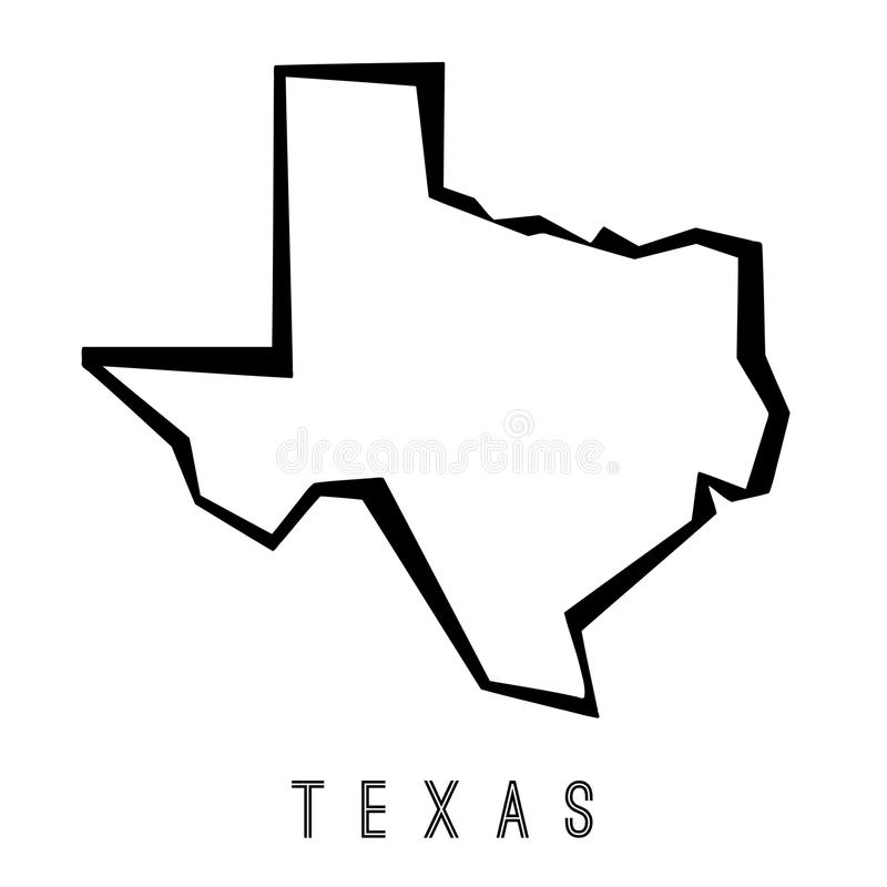 download texas geometric map stock vector illustration of logo 103141773