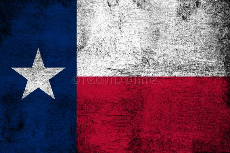 Texas. Grunge and dirty flag illustration. Perfect for background or texture purposes vector illustration