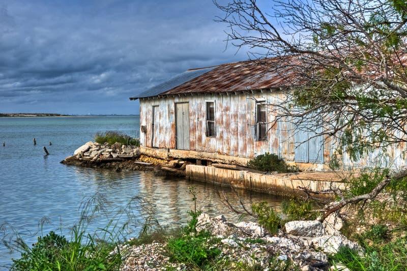 Texas Gulf Coast Abandoned Warehouse fotos de archivo