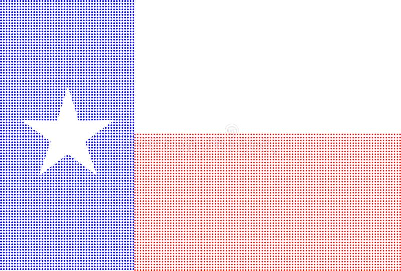 Texas Halftone Flag On-wit vector illustratie