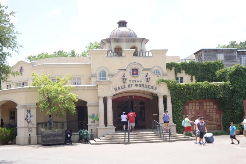 Texas Hall av under på den Fort Worth zoo, Fort Worth, Texas arkivbilder