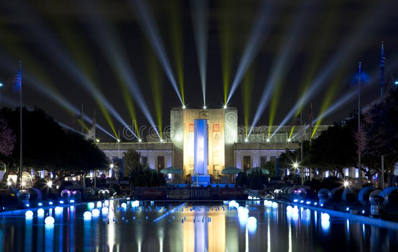 Delightful Download Texas Hall Of State And Esplanade Lit Up Editorial Photography    Image: 102357877 Idea