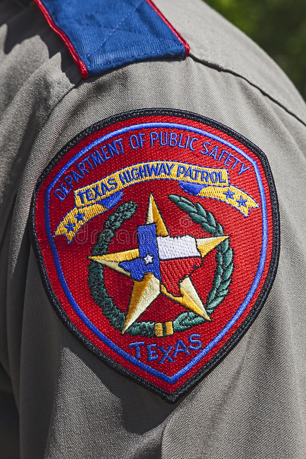 Texas Highway Patrol Badge royalty free stock photo