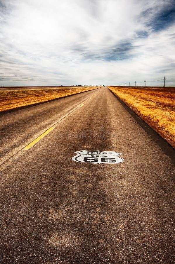 Texas Highway Route 66 stock photos