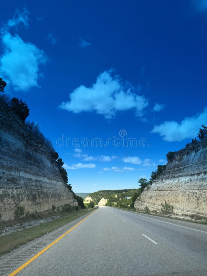 Texas Highway royalty free stock photo