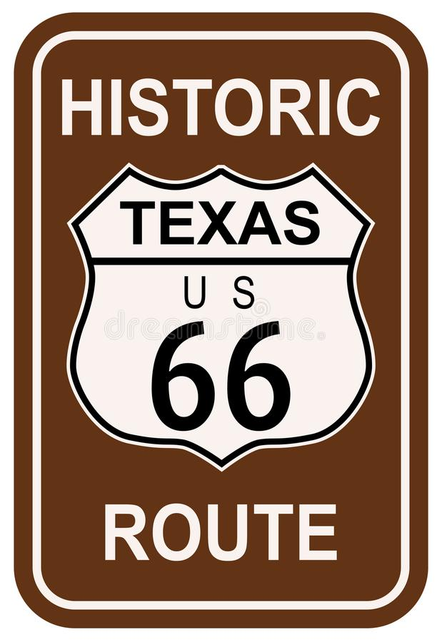 Texas Historic Route 66 ilustração royalty free