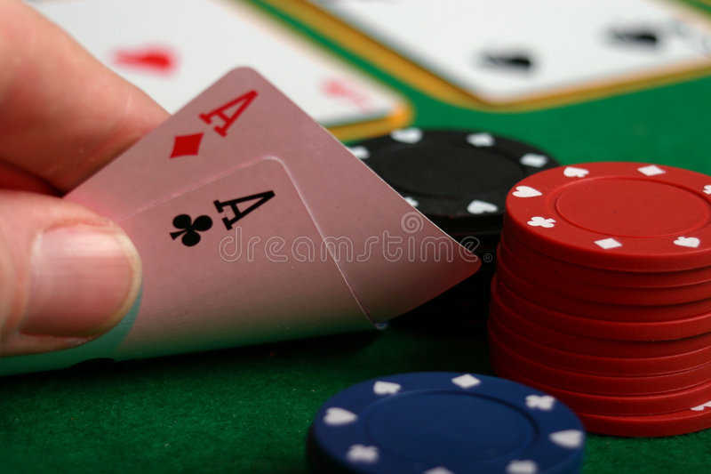 Texas hold em stock photography