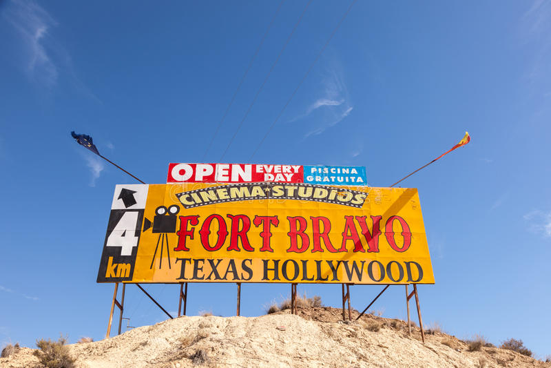 Texas Hollywood-themapark in Spanje stock afbeelding
