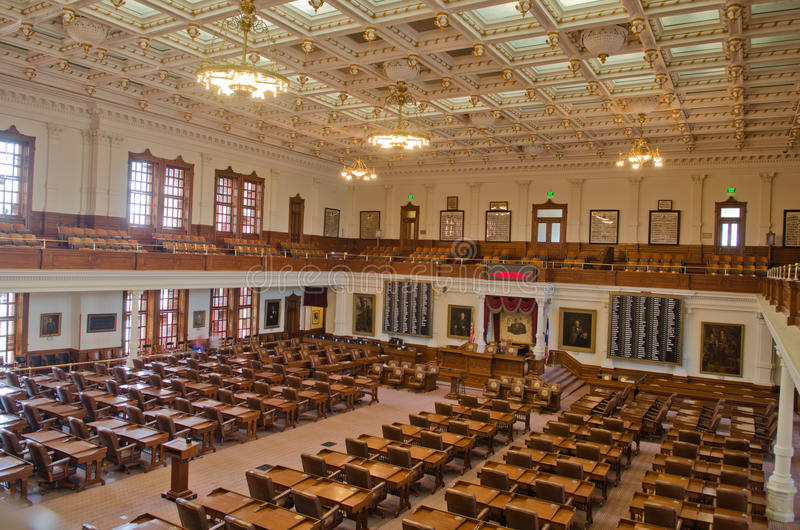 The Texas House of Representatives Chamber royalty free stock images