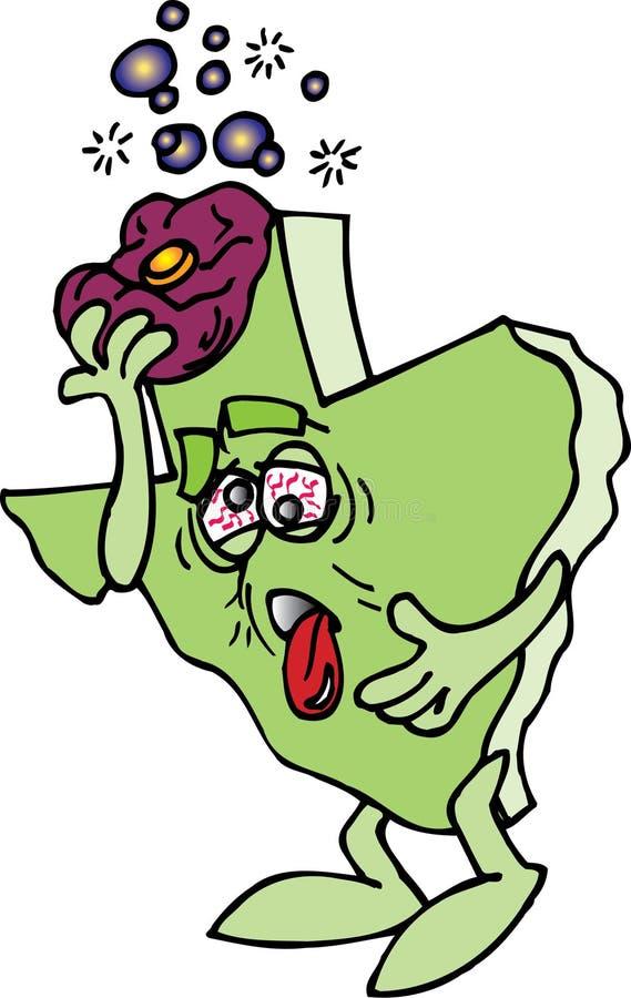 Texas Hungover vektor abbildung