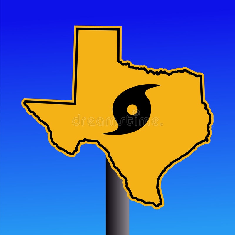 Free Texas Hurricane Warning Sign Stock Photography - 6380082