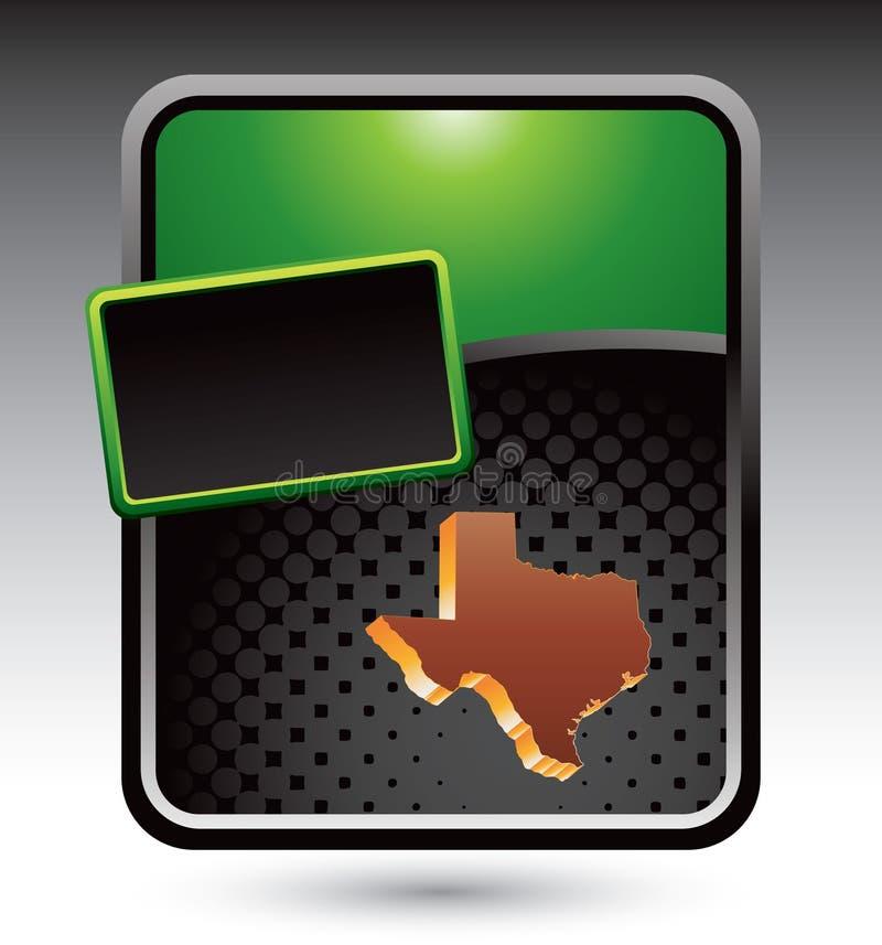 Texas icon on gren stylized banner vector illustration