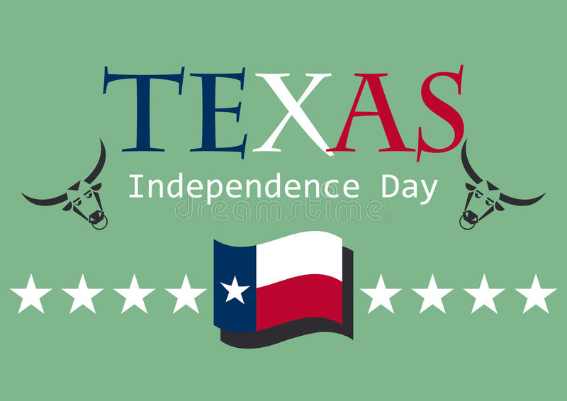 Texas Independence Day illustration stock