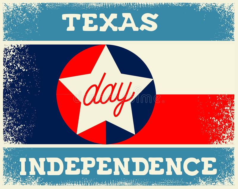 Texas Independence Day illustration de vecteur