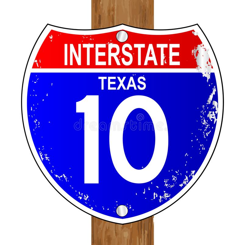 Texas Interstate Sign illustrazione di stock