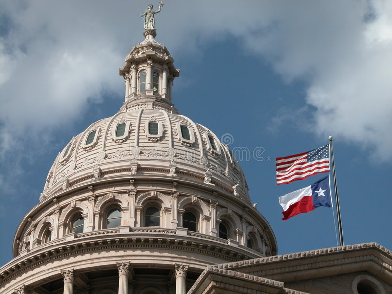Texas-Kapitol-Haubeäußeres lizenzfreies stockbild