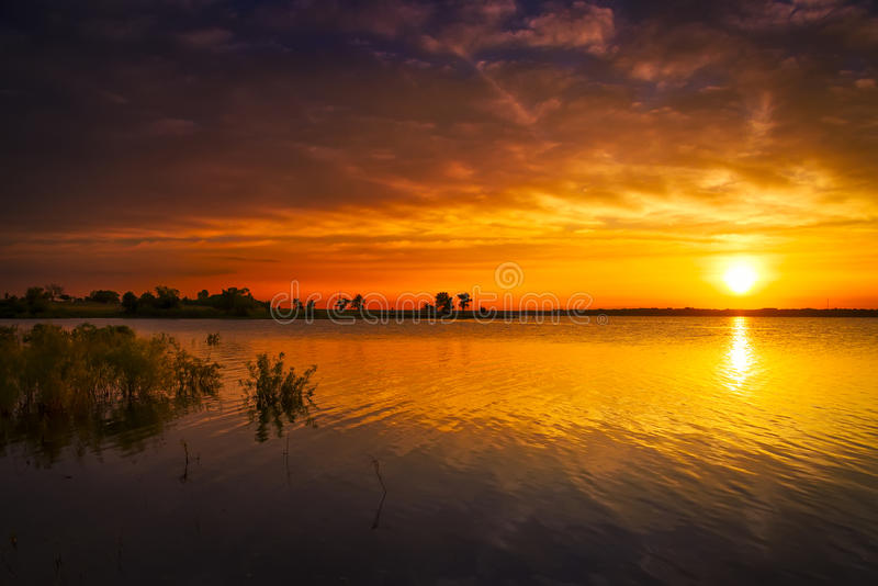 Texas Lake Sunrise fotografia de stock