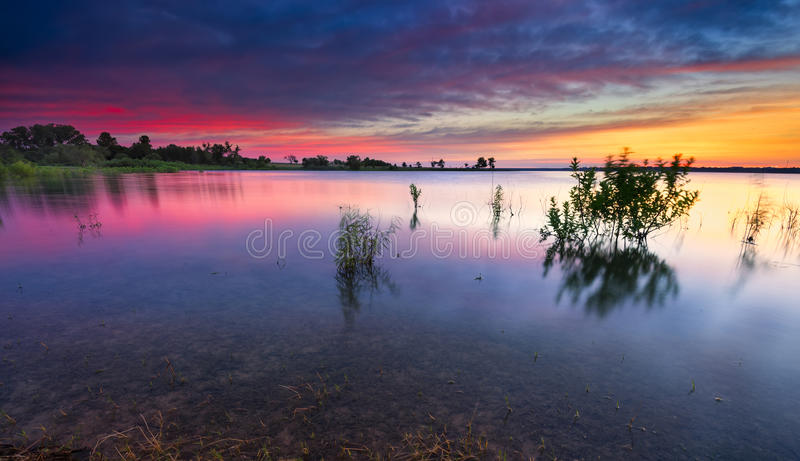 Texas Lake Sunrise stock photography