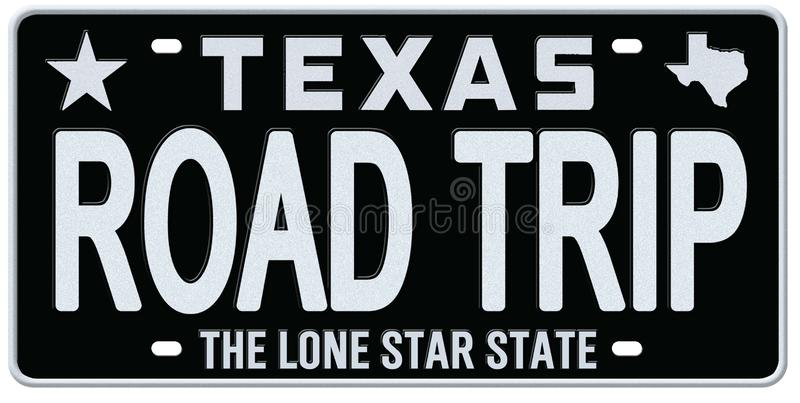 Texas License Plate Road Trip Vintage. Retro the lone star state metal art logo vector isolated TX vector illustration
