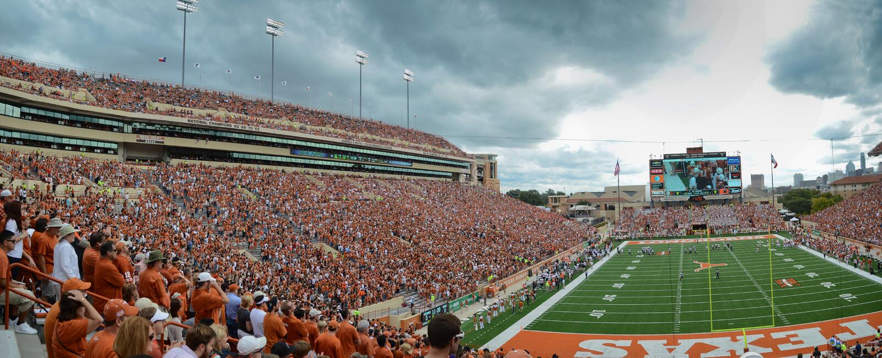 Texas Longhorns college football game royalty free stock photos