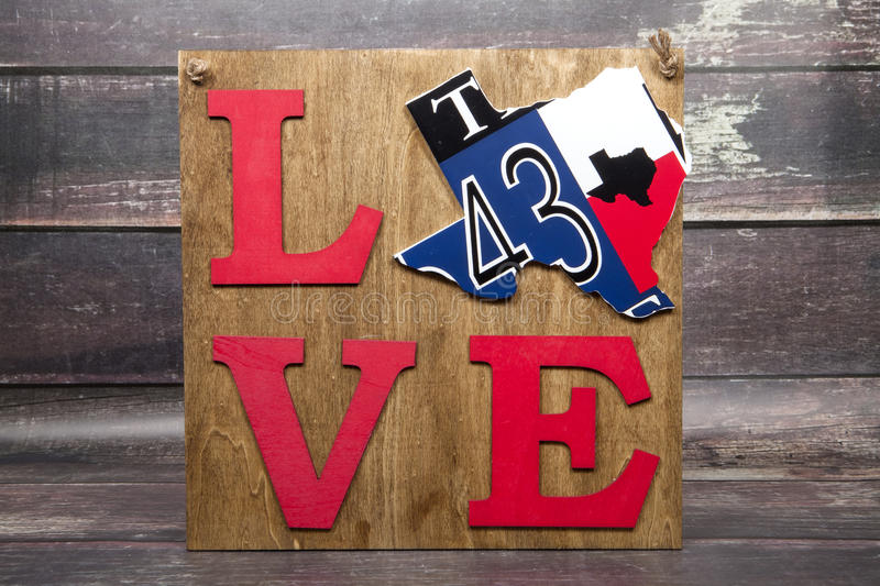 Texas Love. A sign declaring its love of the state of Texas stock image