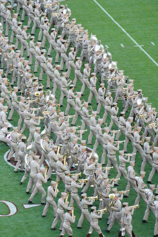 Texas A&M Fightin ' Texas Aggie Band royaltyfria foton