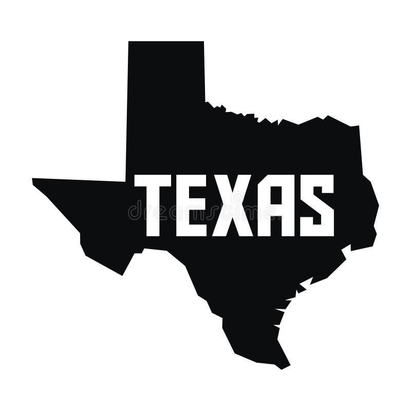 Texas Map ilustração royalty free