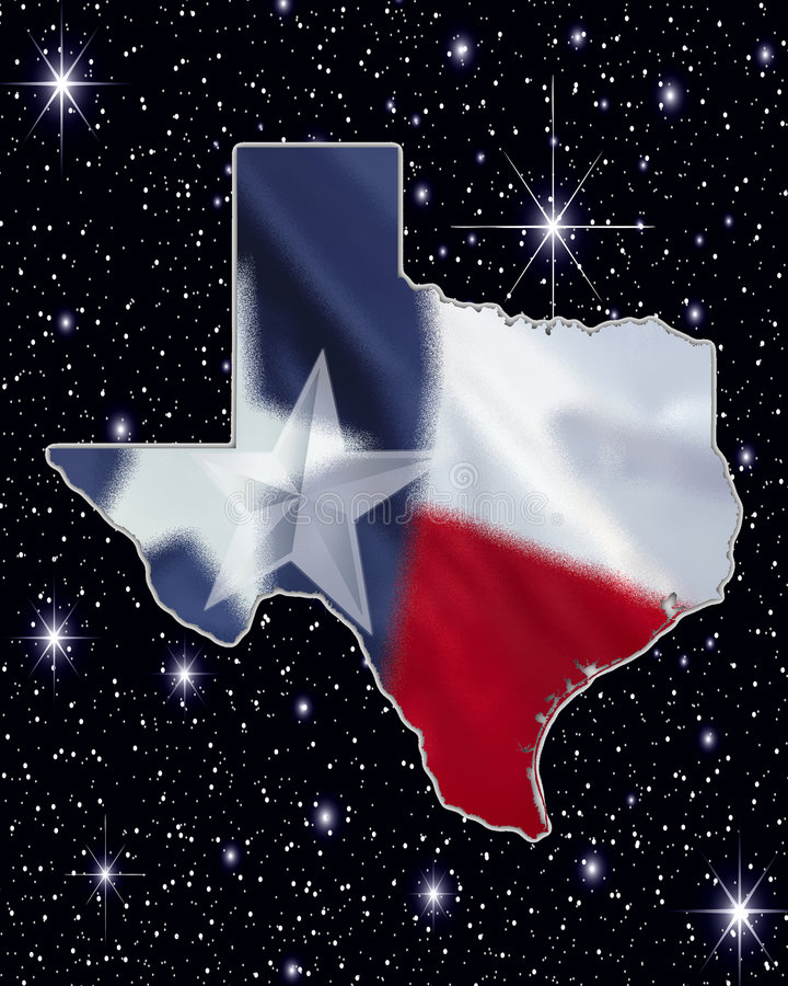 Download Texas Map stock illustration. Image of flag, star, black - 6294207
