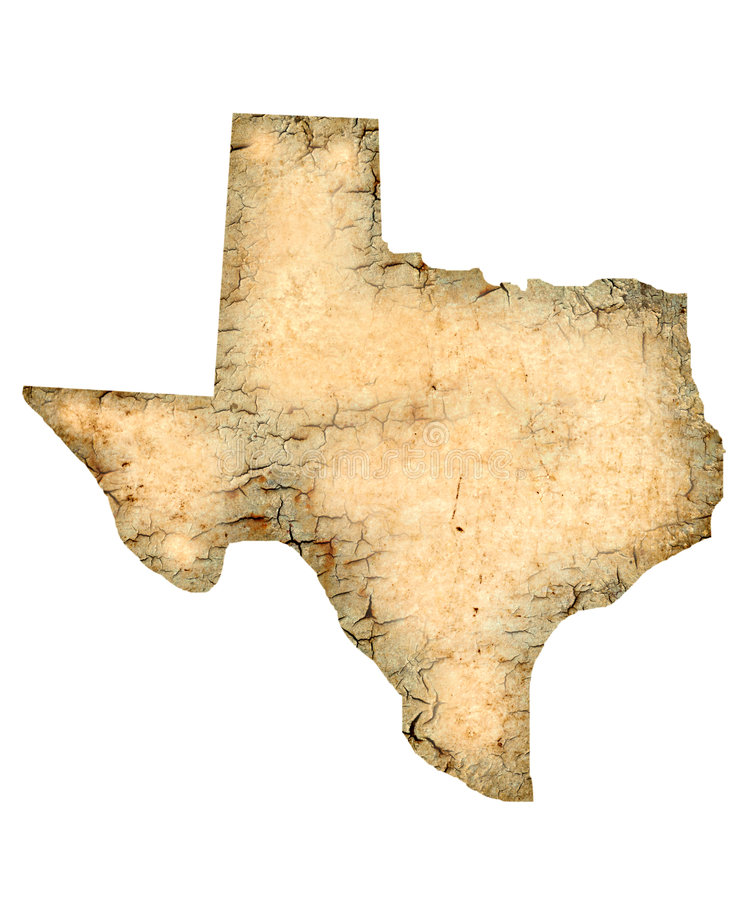 Texas Map royalty free stock image