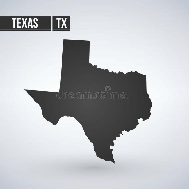Texas map isolated on transparent background. Black map for your design. Vector illustration, easy to edit.  vector illustration