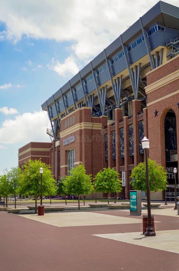 Texas A och M Kyle Field Football Stadium royaltyfri foto