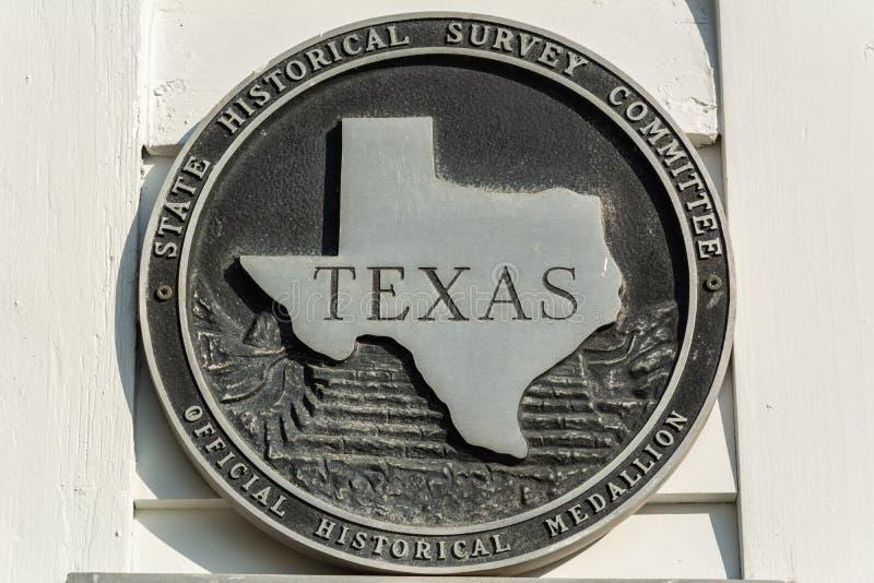Texas Official Historical Medallion imagens de stock royalty free