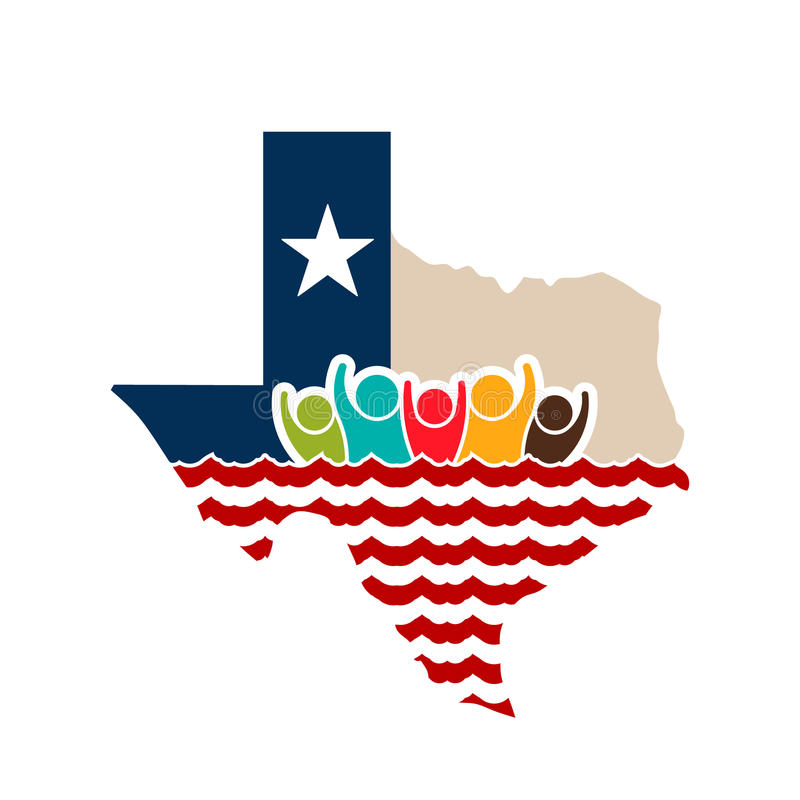 Texas People Strong Logo Illustration libre illustration