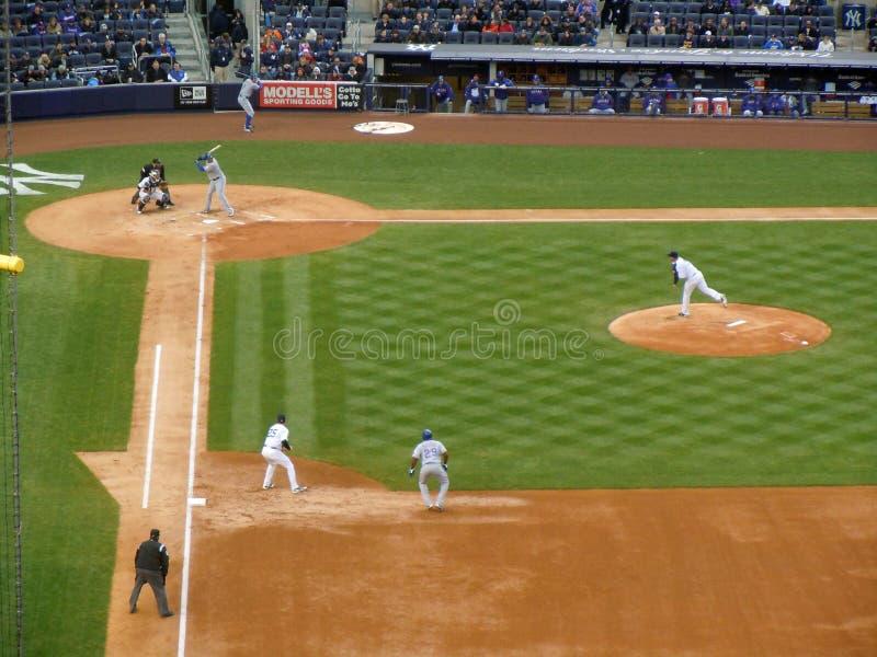 Texas Rangers de New York Yankies v foto de stock