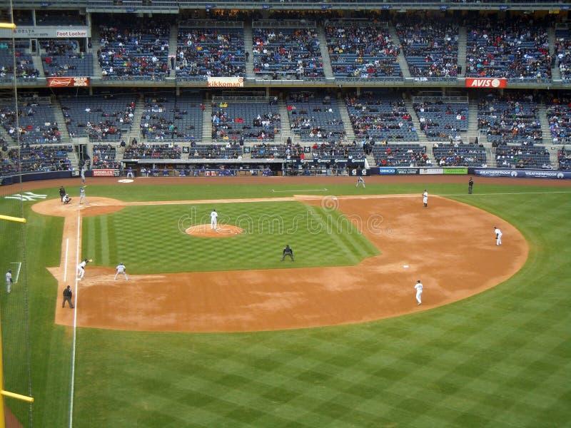Texas Rangers de New York Yankies v fotos de stock royalty free
