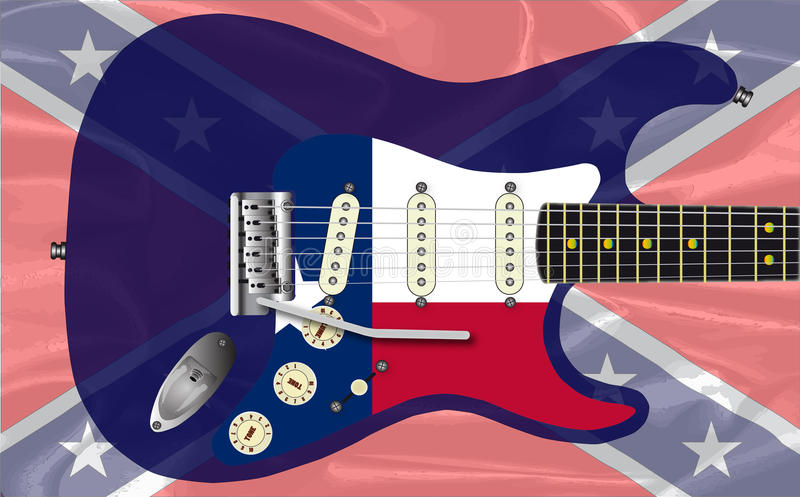 Texas Rebel Electric Guitar ilustración del vector