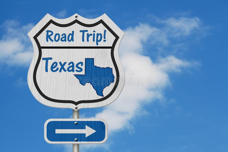 Texas Road Trip Highway Sign royalty-vrije stock fotografie