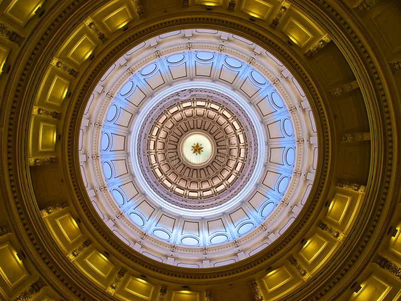 Texas State Capitol dome (inside) royalty free stock image