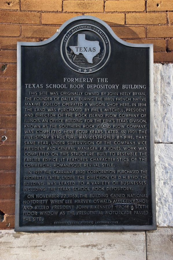 Texas School Book Depository, Dallas, TX, Kennedy Editorial Stock Photo