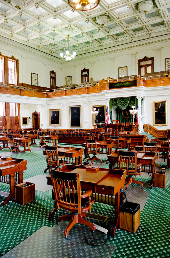 Texas Senate Chamber. The Senate Chamber of Texas in Austin, Texas stock image