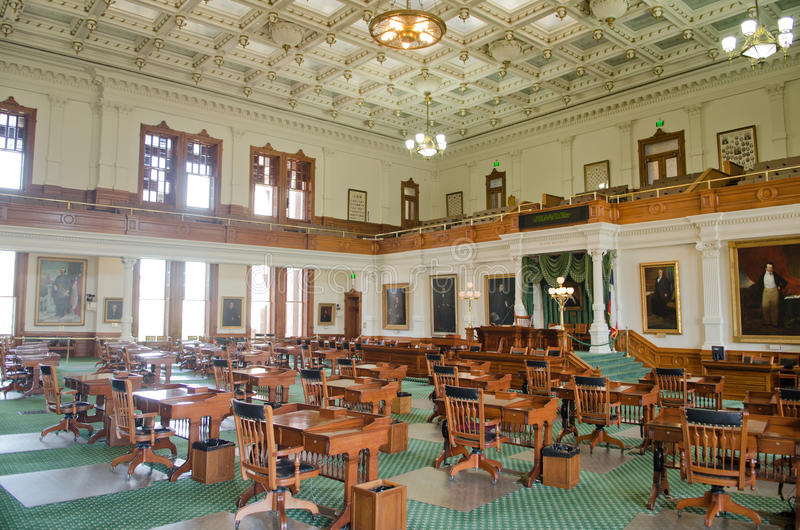 Texas Senate Chamber. Austin, Texas stock images